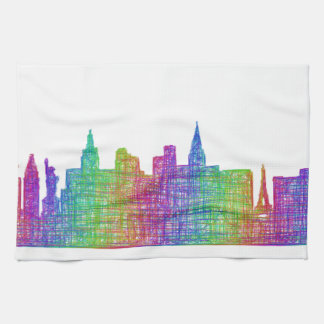 Las Vegas skyline Towel