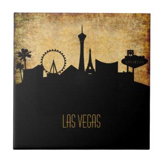 Las Vegas  Skyline | Vintage Grunge Style Small Square Tile