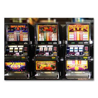 Las Vegas Slot Dream Machines Table Card