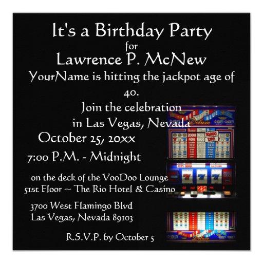 Personalized Las vegas party Invitations – Las Vegas Party Invitations