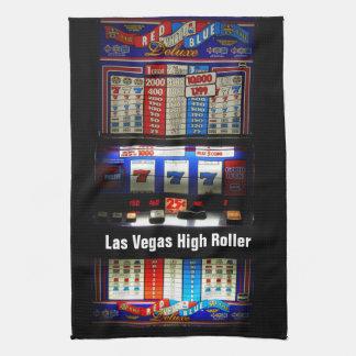 Las Vegas Slot Machine High Roller Kitchen Towel