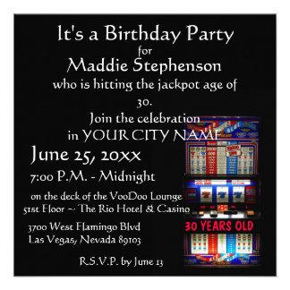 Las Vegas Slot Machine Party Invitations