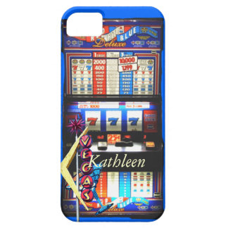 Las Vegas Slot Machine with Vintage Sign iPhone SE/5/5s Case