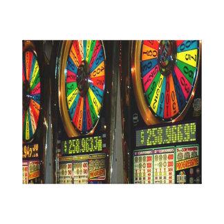 Las Vegas Slot Machines Canvas Print