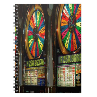 Las Vegas Slot Machines Spiral Notebook