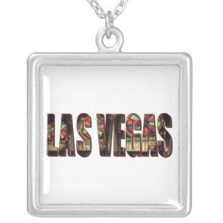 Las Vegas Slots/Bachelorette party Square Pendant Necklace