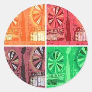 Las Vegas Slots Classic Round Sticker