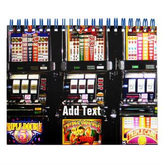 Las Vegas Slots Dream Machines Wall Calendar