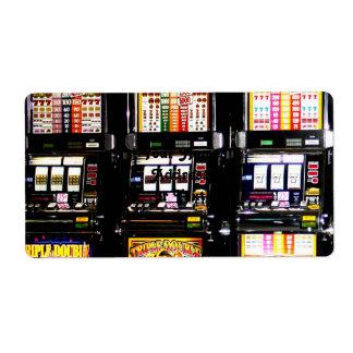 Las Vegas Slots - Dream Machines Custom Shipping Label