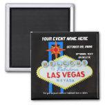 Las Vegas Special Event Memento 2 Inch Square Magnet