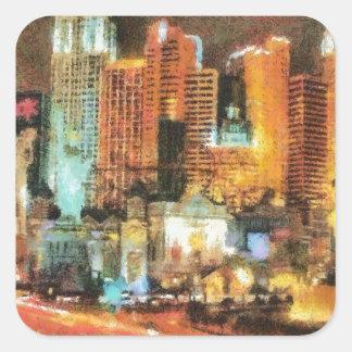 Las vegas square sticker
