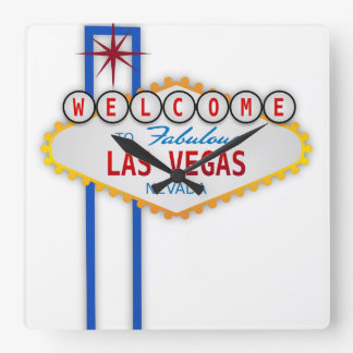 Las Vegas Square Wall Clock