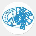 Las Vegas Stamp Classic Round Sticker