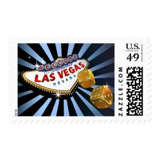 Las Vegas Starburst baby blue black gold Postage