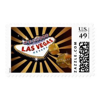 Las Vegas Starburst gold black Postage