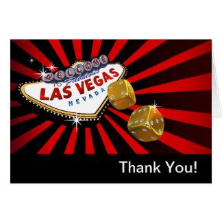 Las Vegas Starburst le agradece oro negro rojo Tarjeta Pequeña