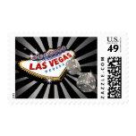 Las Vegas Starburst silver black Postage Stamp
