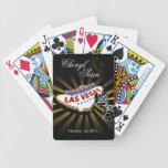 Las Vegas Starburst Wedding black & gold Poker Deck