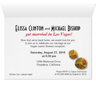 Las Vegas Starburst Wedding Reception red black Card