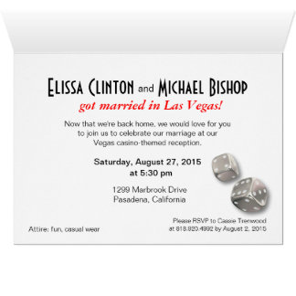 Las Vegas Starburst Wedding Reception silver black Card