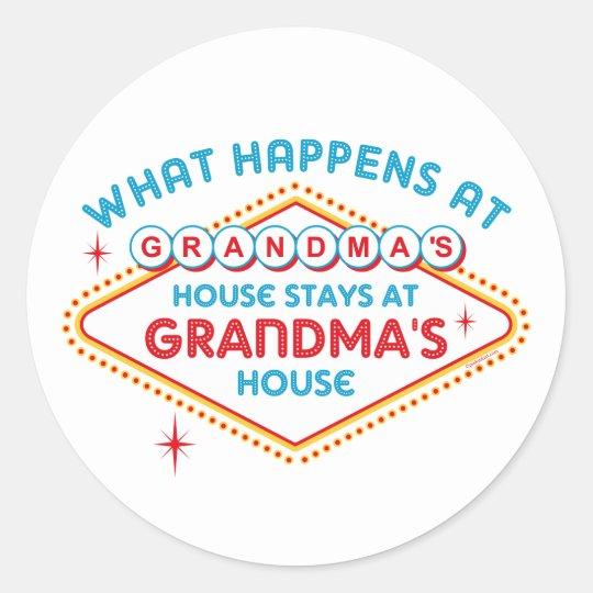 Las Vegas Stays At Grandma's Classic Round Sticker