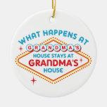Las Vegas Stays At Grandma's Ornament