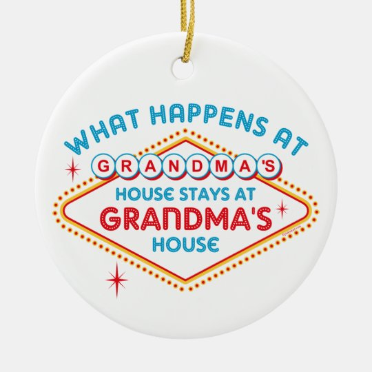 Las Vegas Stays At Grandma's Ornament