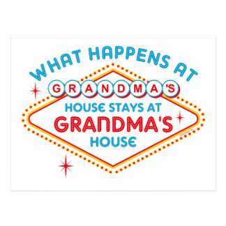Las Vegas Stays At Grandma's Post Cards