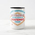 Las Vegas Stays At Grandma's Two-Tone Coffee Mug