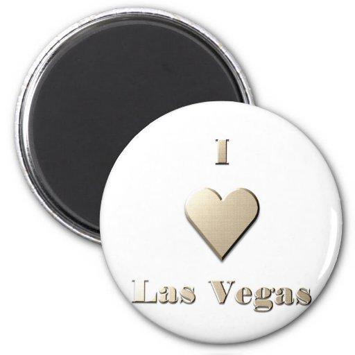 Las Vegas -- Steel Tan Refrigerator Magnet
