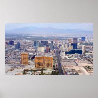 Las Vegas Strip 2009 Aerial View Poster