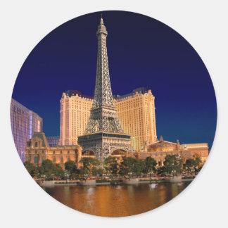 Las Vegas strip 5 Classic Round Sticker