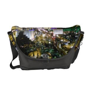 Las Vegas Strip Aerial Photo Lights Messenger Bag