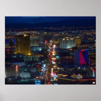Las Vegas Strip Aerial Photo Poster Print
