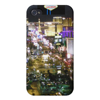 Las Vegas Strip Aerial Photo with Welcome Sign iPhone 4 Cover