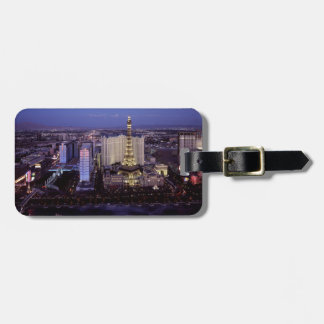 Las Vegas Strip Aerial View Casino Gambling City Bag Tag