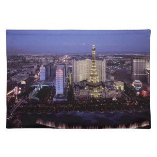 Las Vegas Strip Aerial View Casino Gambling City Cloth Place Mat