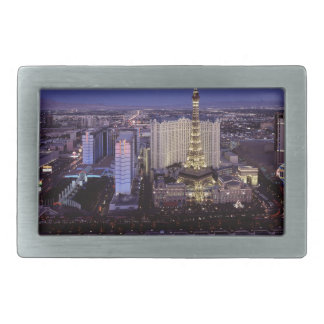 Las Vegas Strip Aerial View Casino Gambling City Rectangular Belt Buckle