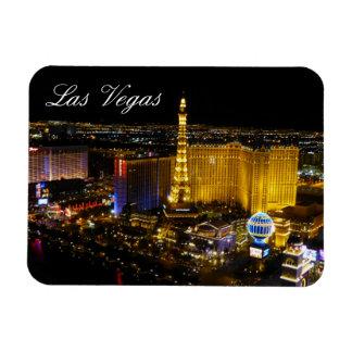 Las Vegas Strip, Aerial View, Night Lights Vinyl Magnets