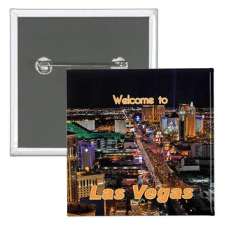 Las Vegas Strip at Night Pinback Button