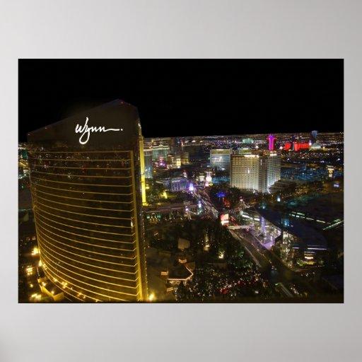 Las Vegas Strip at Night Poster Print