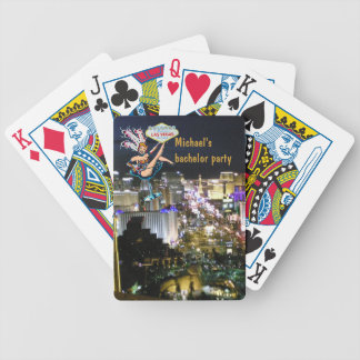 Las Vegas Strip Bachelor Party Bicycle Playing Cards