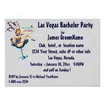 Las Vegas Strip Bachelor Party Card