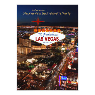 Las Vegas Strip Bachelorette Party Invitation