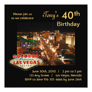 Las Vegas Strip Birthday Party Invitation