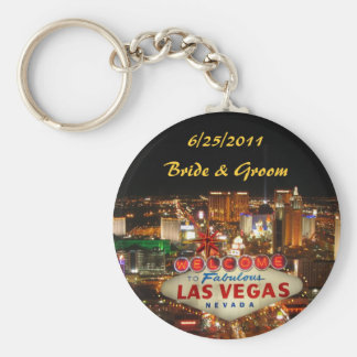 Las Vegas Strip Bride & Groom Keychain