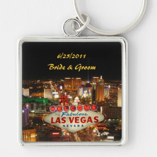Las Vegas Strip Bride & Groom Keychain