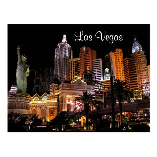 Las vegas strip casinos nevada post card zazzle for Arts and crafts stores in las vegas