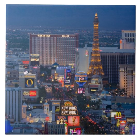 Las Vegas Strip Ceramic Tile