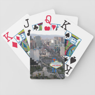 Las Vegas Strip Daytime Aerial Photo with Welcome Bicycle Playing Cards